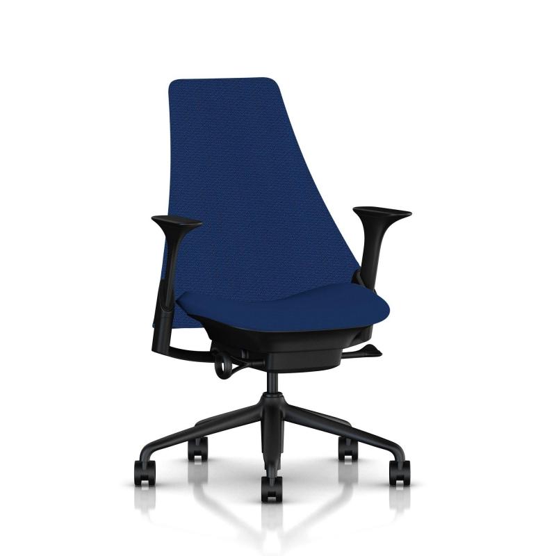 fauteuil sayl herman miller noir dossier haut et assise. Black Bedroom Furniture Sets. Home Design Ideas