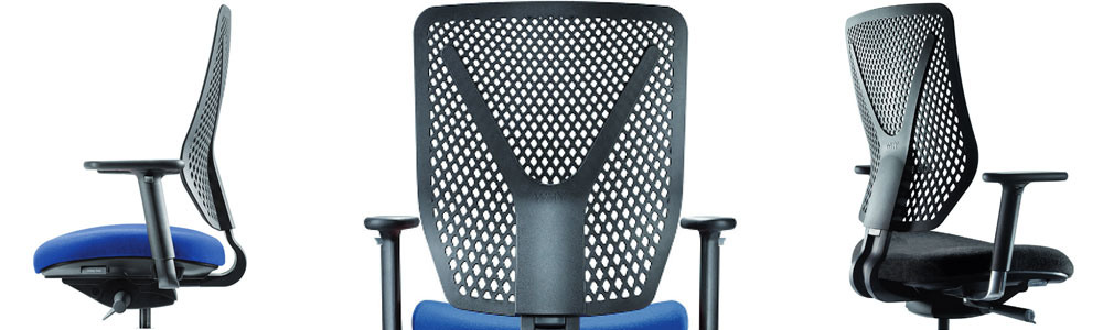 Le dossier du siège Why est ergonomique et confortable