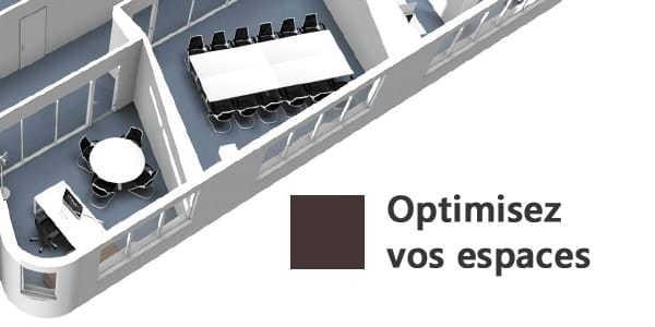 Second visuel projection 3D d'un espace de travail