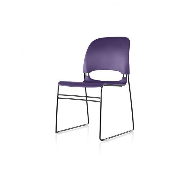 chaise limerick herman miller avec patin pour assemblages noir assise dossier purple. Black Bedroom Furniture Sets. Home Design Ideas