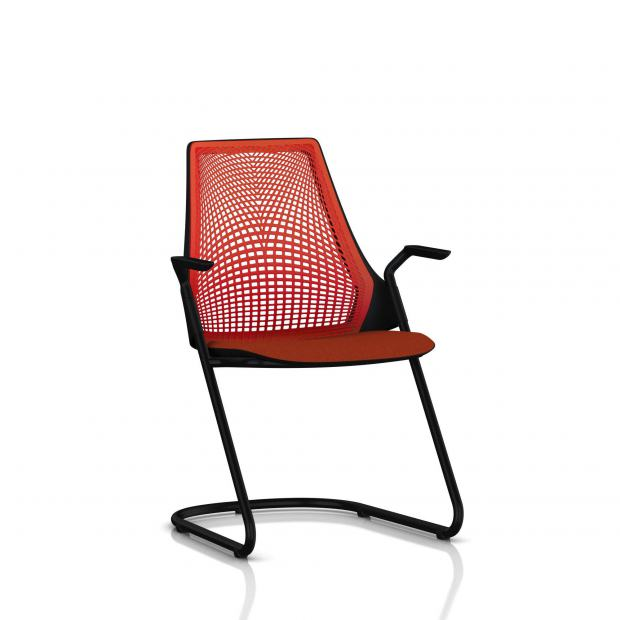 Sayl Side Chair Herman Miller Noir / Dossier Suspension Red / Assise Tissu Panama