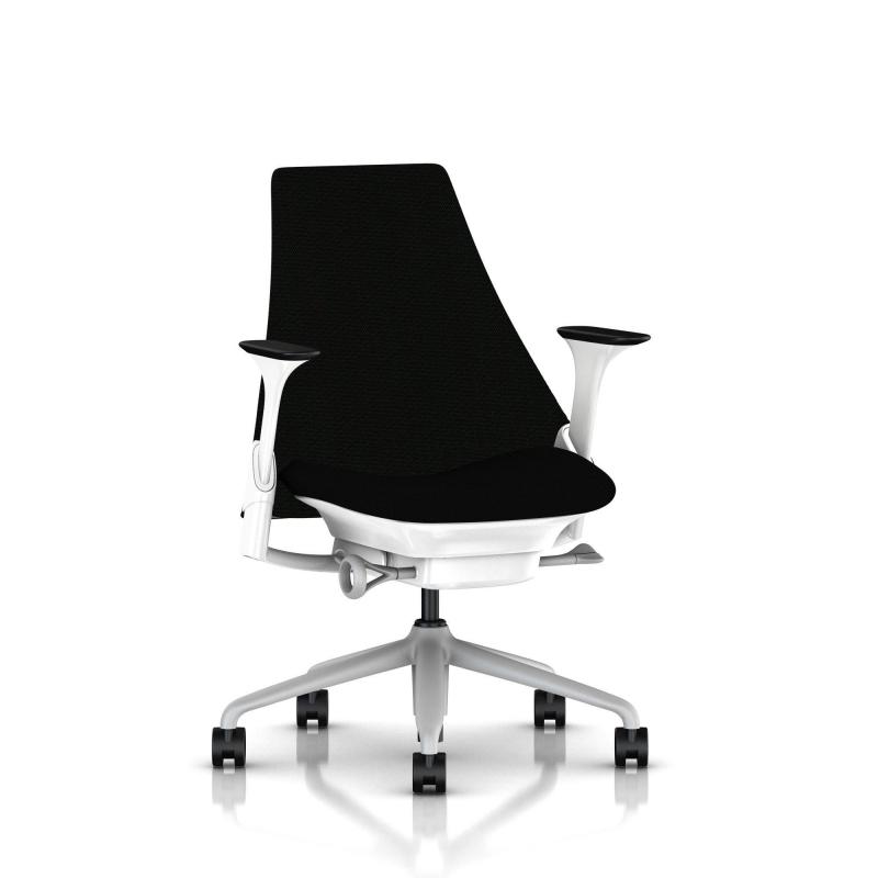 fauteuil sayl herman miller fog blanc dossier et assise. Black Bedroom Furniture Sets. Home Design Ideas