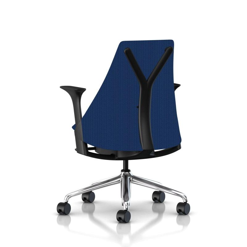 fauteuil sayl herman miller alu poli noir dossier et. Black Bedroom Furniture Sets. Home Design Ideas