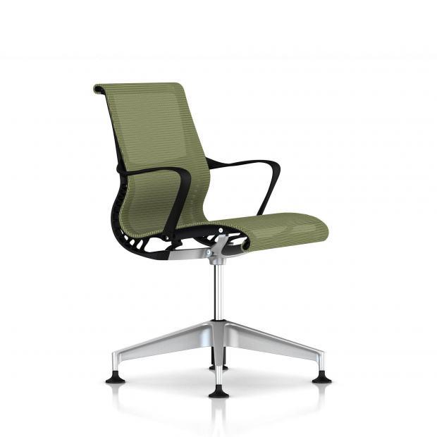 Fauteuil Setu Herman Miller H-Alloy / Structure Graphite / Lyris Chartreuse