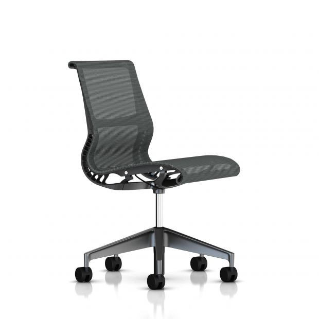 Siege Setu Herman Miller Graphite / Structure Slate Grey / Lyris Slate Grey