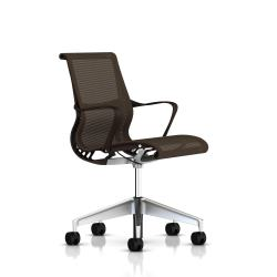 Fauteuil Setu Herman Miller Alu Semi Poli / Structure Java / Lyris Java