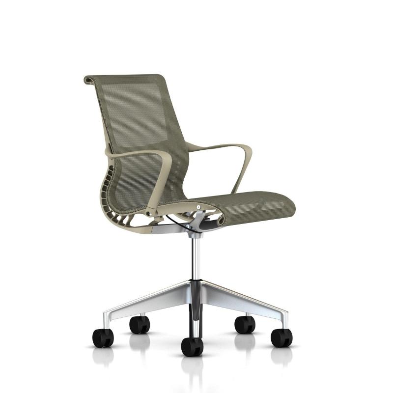 fauteuil setu herman miller alu semi poli structure. Black Bedroom Furniture Sets. Home Design Ideas