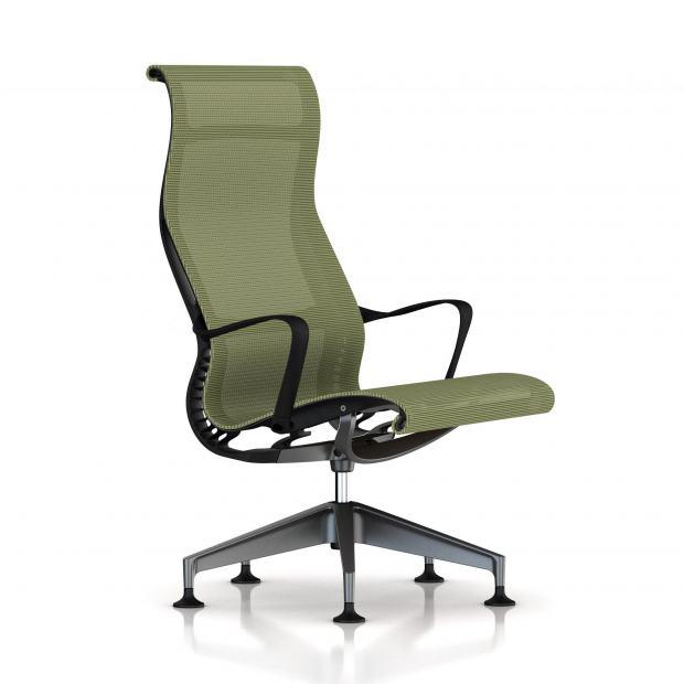 fauteuil setu lounge herman miller graphite structure. Black Bedroom Furniture Sets. Home Design Ideas