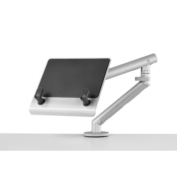 Support pour ordinateur portable avec bras flo et fixation 0-65mm - silver
