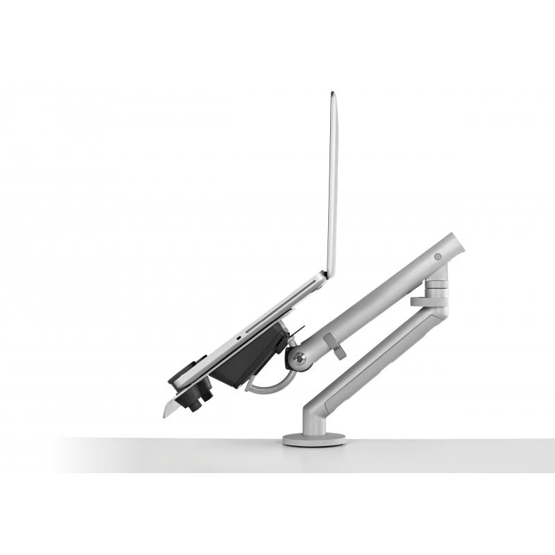 support pour ordinateur portable avec bras flo et fixation 0 65mm blanc. Black Bedroom Furniture Sets. Home Design Ideas