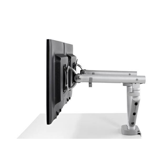Support d'écran flo pour 2 écrans 3 à 9kg avec fixation double 0-63mm - blanc