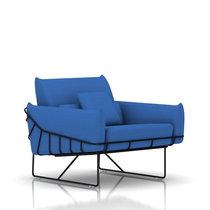 fauteuil wireframe herman miller 1 place noir tissu. Black Bedroom Furniture Sets. Home Design Ideas