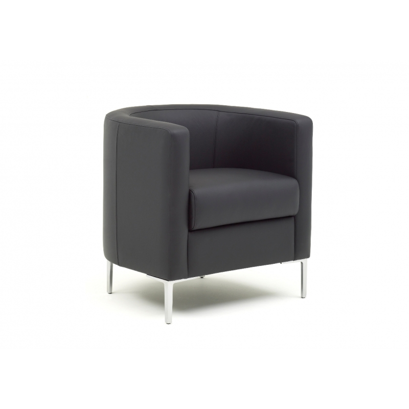 fauteuil oasis tub cuir noir. Black Bedroom Furniture Sets. Home Design Ideas