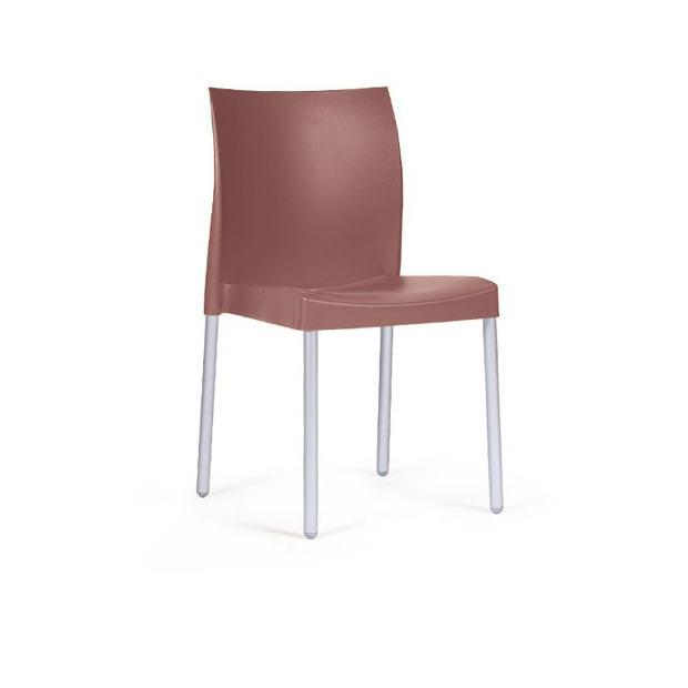 ICE 800 Pedrali chaise 4 pieds bleu