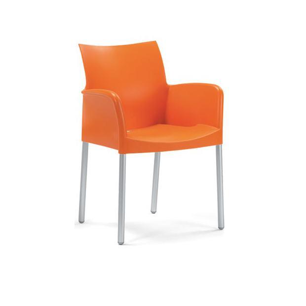 ICE Pedrali Fauteuil Pieds Orange Mbfr - Fauteuil orange