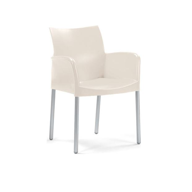ICE 850 Pedrali fauteuil 4 pieds ivoire