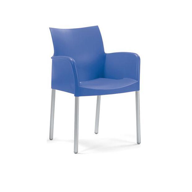 ICE 850 Pedrali fauteuil 4 pieds bleu