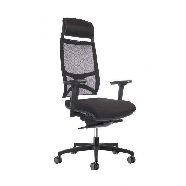 Siège de bureau Team Strike dossier maille noire - Siège de travail ergonomique