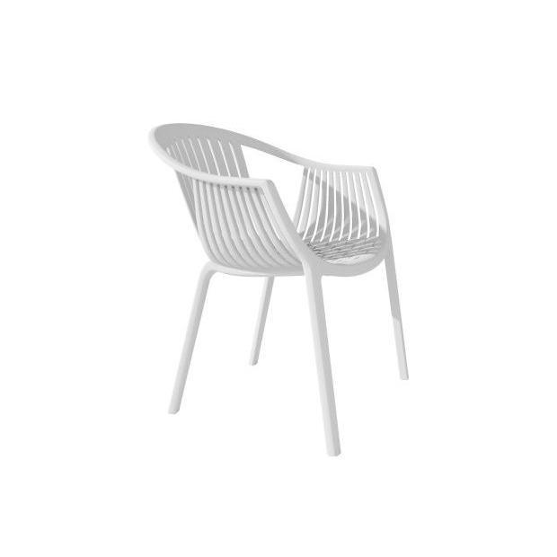 TATAMI 306 Pedrali fauteuil 4 pieds blanc