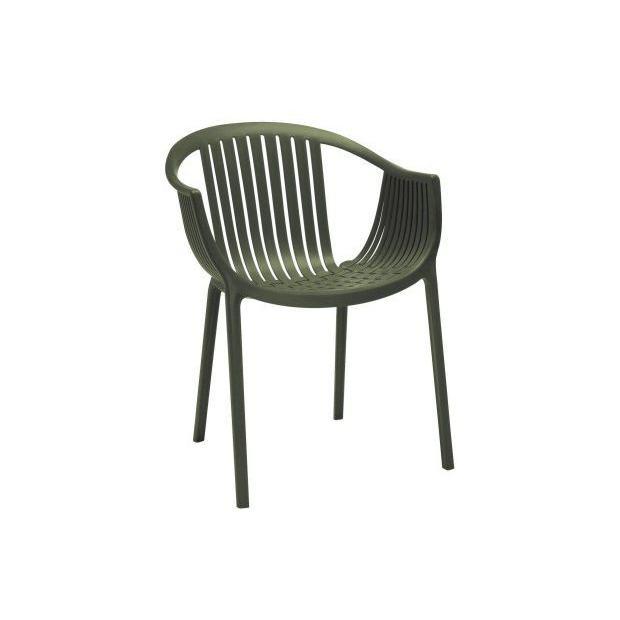 TATAMI 306 Pedrali fauteuil 4 pieds vert