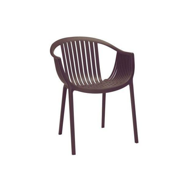 TATAMI 306 Pedrali fauteuil 4 pieds marron