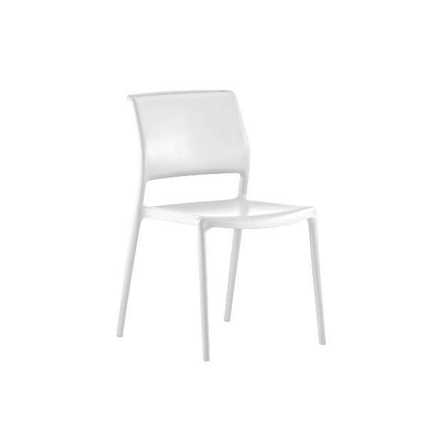 ARA 310 Pedrali chaise 4 pieds blanc