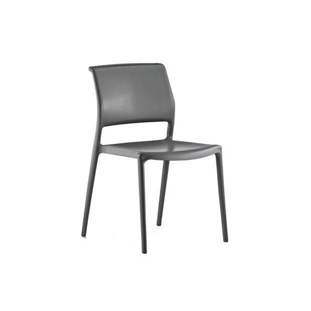 ARA 310 Pedrali chaise 4 pieds gris anthracite