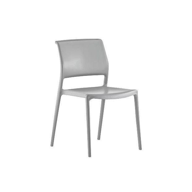ARA 310 Pedrali chaise 4 pieds gris clair