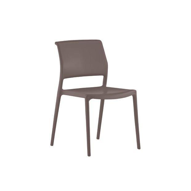 ARA 310 Pedrali chaise 4 pieds marron