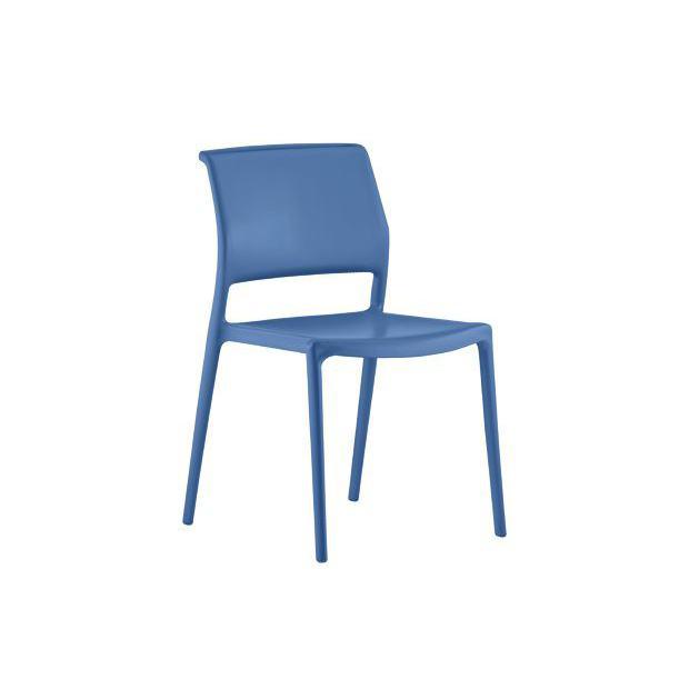 ARA 310 Pedrali chaise 4 pieds bleu