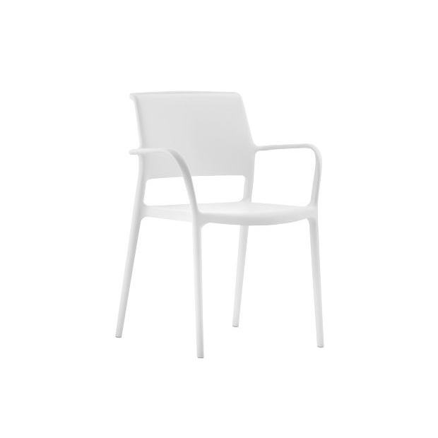 ARA 315 Pedrali fauteuil 4 pieds blanc