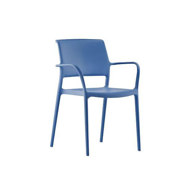 ARA 315 Pedrali fauteil 4 pieds bleu