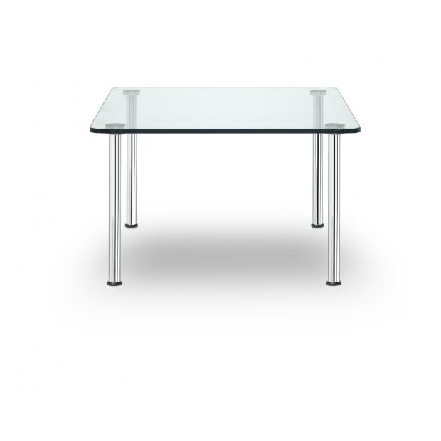 Business Class Sitland table basse carrée verre transparent