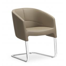 Of Course Fauteuil visiteur cuir 36 Taupe