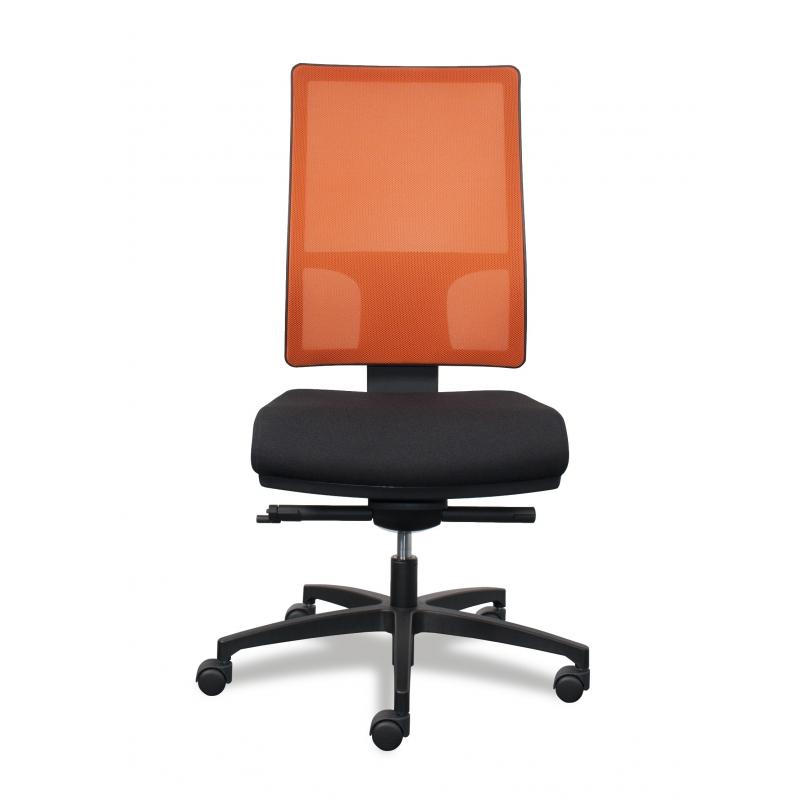 mesh line sitland si ge de bureau dossier filet orange. Black Bedroom Furniture Sets. Home Design Ideas