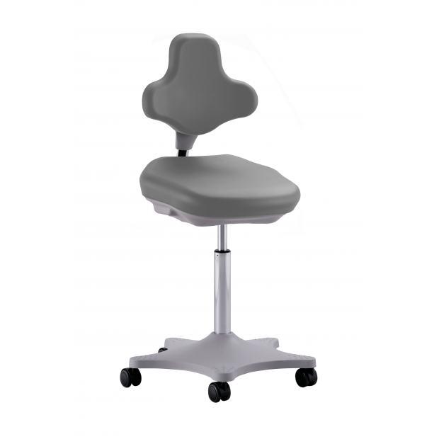 9103 - siège LABSTER 2 Bimos vérin moyen sur roulettes - mousse gris