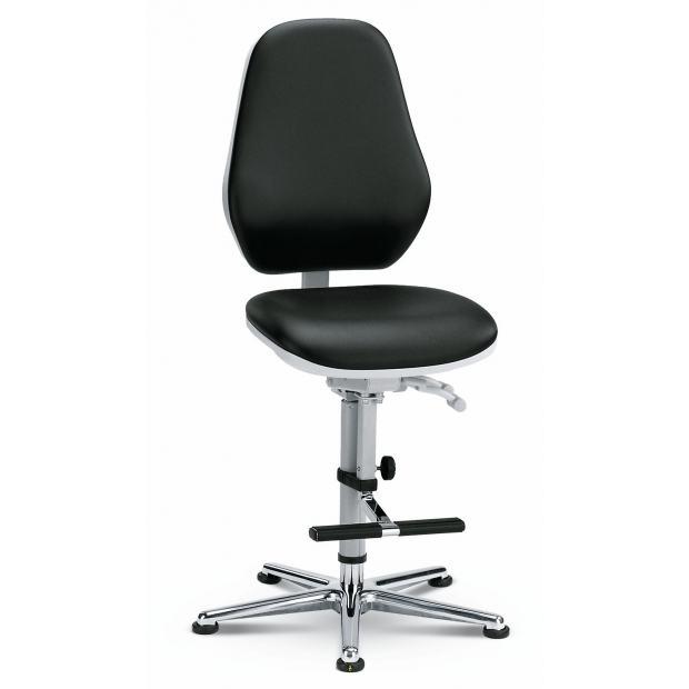 9143 BASIC 3 Bimos Siège haut salle blanche contact permanent inclinaison d'assise et marchepieds