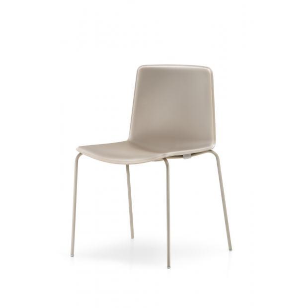 Tweet 890 Pedrali Chaise 4 pieds beige/ structure beige