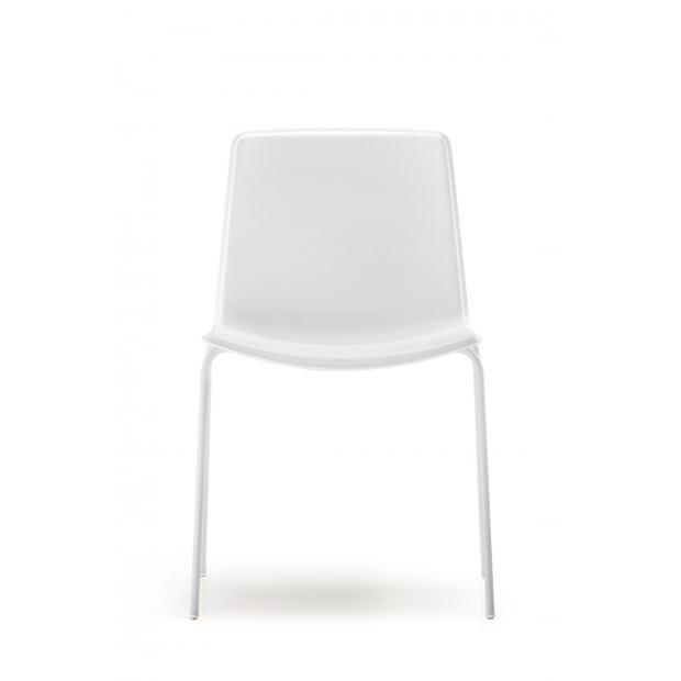 Tweet 890 Pedrali Chaise 4 pieds blanc / structure blanche