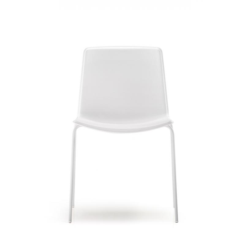 Tweet 890 pedrali chaise 4 pieds blanc coque blanche - Chaise coque blanche ...
