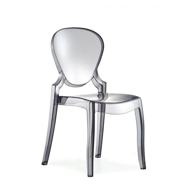 QUEEN 650 Pedrali Chaise 4 pieds polycarbonate fumé