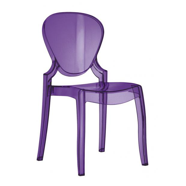 QUEEN 650 Pedrali Chaise 4 pieds polycarbonate violet
