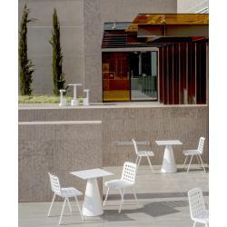 Koi-Booki 370 Pedrali Chaise 4 pieds Blanche