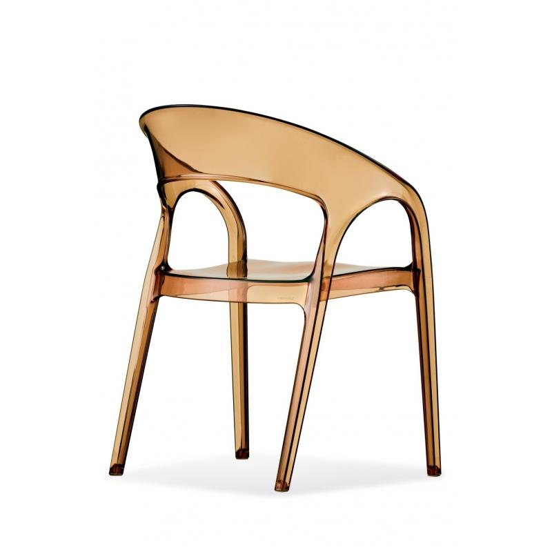 Gossip 620 pedrali chaise 4 pieds ambre for 4 pieds 4 chaises rouen