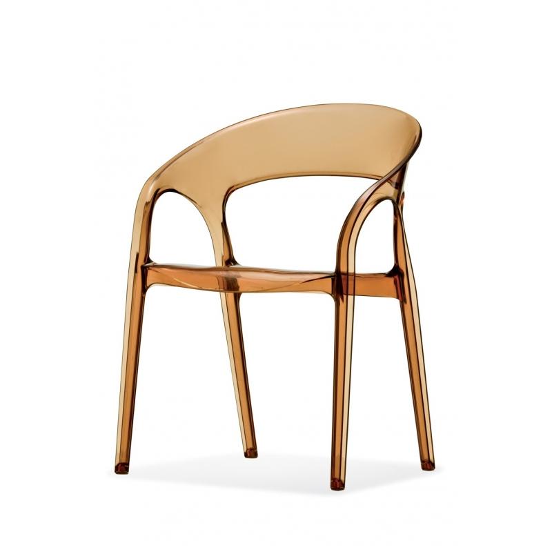gossip 620 pedrali chaise 4 pieds ambre. Black Bedroom Furniture Sets. Home Design Ideas