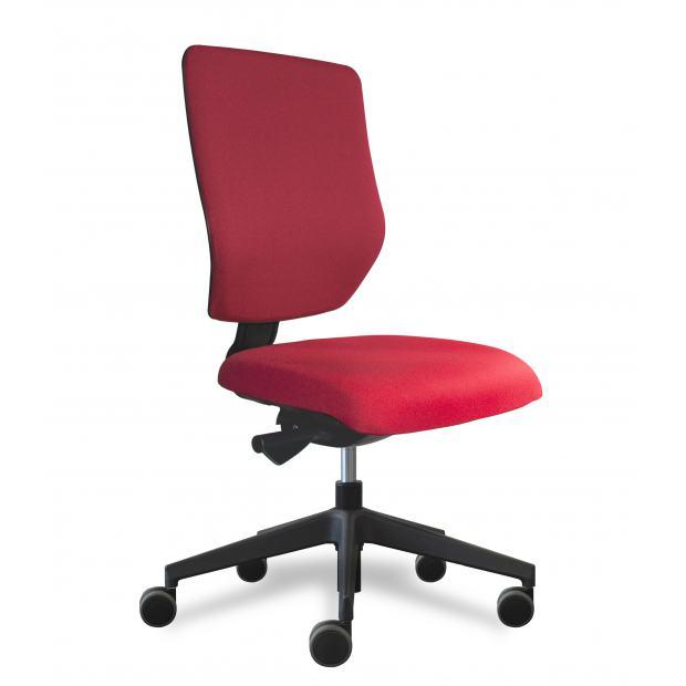 Why siège de bureau dossier placet tissu rouge / assise tissu rouge