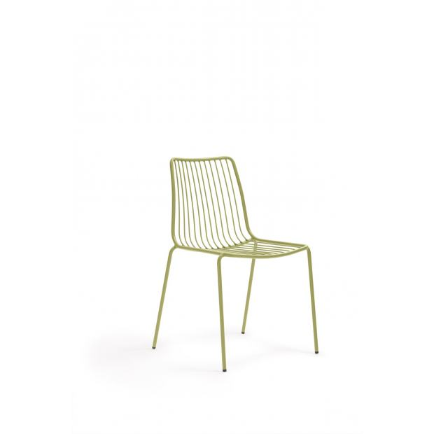 Nolita 3651 Pedrali chaise 4 pieds - Verte