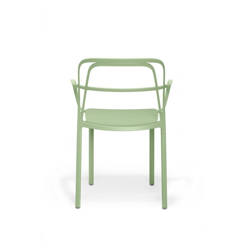 Intrigo 3715 pedrali chaise 4 pieds vert salvia for Chaise pedrali