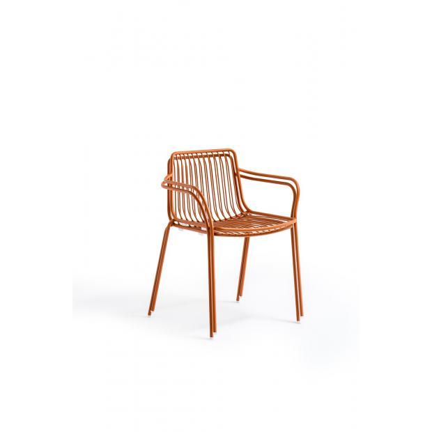 Nolita 3655 Pedrali chaise 4 pieds avec accoudoirs - Terre Cuite