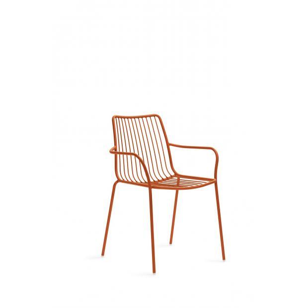 Nolita 3656 Pedrali chaise 4 pieds avec accoudoirs - Terre Cuite